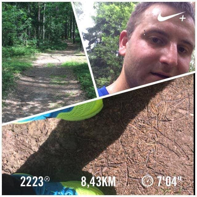 Nike+ photo collage, running picture